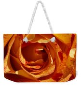 Orange Variegated Rose Weekender Tote Bag