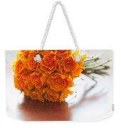 Orange Wedding Bouquet Roses Weekender Tote Bag