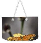 Orange Winged Butterfly Weekender Tote Bag