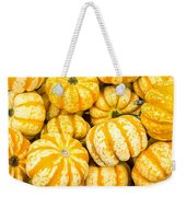 Orange Winter Squash On Display Weekender Tote Bag
