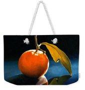 Orange With Leaf Weekender Tote Bag