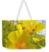 Orange Yellow Poppy Flowers Meadow Art Weekender Tote Bag