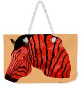 Orange Zebra Weekender Tote Bag