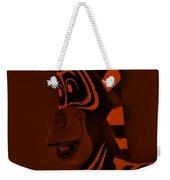Orange Zebra Weekender Tote Bag