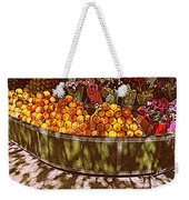 Oranges And Flowers Weekender Tote Bag