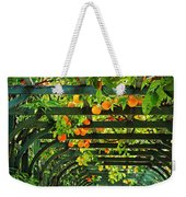 Oranges And Lemons On A Green Trellis Weekender Tote Bag