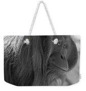Orangutan Black And White Weekender Tote Bag