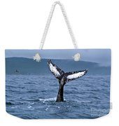 Orca Bitemarks On Humpback Tail Weekender Tote Bag