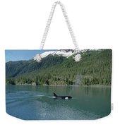 Orca Female Inside Passage Alaska Weekender Tote Bag