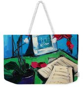 Orchid And Piano Sheets Weekender Tote Bag