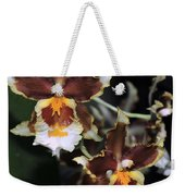Orchid Brown Yellow White Macro Weekender Tote Bag