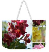 Orchid Collage Weekender Tote Bag