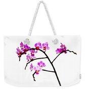 Orchid In White  Weekender Tote Bag