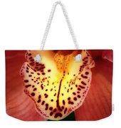Orchid Macro Weekender Tote Bag