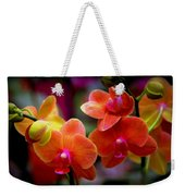 Orchid Melody Weekender Tote Bag by Karen Wiles