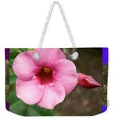 Orchid Pink Flower Photographed At Costa Rica Sensual Smile Graphic Dital Painted Background Ideal Weekender Tote Bag