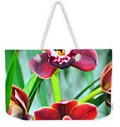Orchid Rusty Weekender Tote Bag by Marty Koch