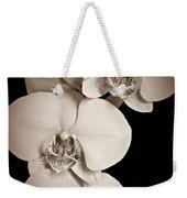 Orchid Trio Sepia Weekender Tote Bag