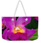 Orchid Variations 1 Weekender Tote Bag by Rona Black
