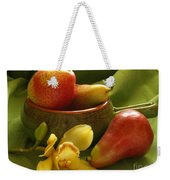 Orchid With Pears Weekender Tote Bag