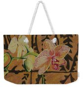 Orchid With Tapa Weekender Tote Bag