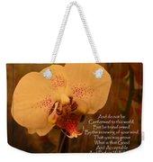 Orchid With Verse Weekender Tote Bag