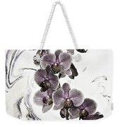 Orchids And Suminagashi Weekender Tote Bag