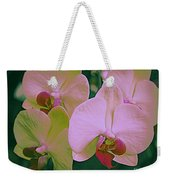 Orchids In Pink And Green Weekender Tote Bag