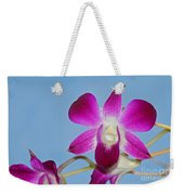 Orchids With Blue Sky Weekender Tote Bag