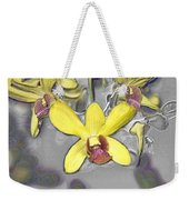 Orchids With Oil Slick Pattern Weekender Tote Bag