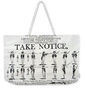 Order Of Battle - Take Notice Brave Men Weekender Tote Bag