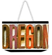 Oregon Antique Letterpress Printing Blocks Weekender Tote Bag