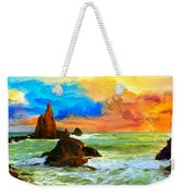 Oregon Coast At Sunset Weekender Tote Bag