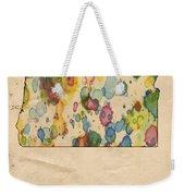 Oregon Map Vintage Watercolor Weekender Tote Bag