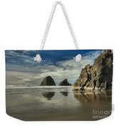Oregon Sea Stack Reflections Weekender Tote Bag by Adam Jewell
