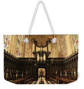 Organ And Choir - King's College Chapel Weekender Tote Bag