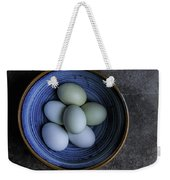 Organic Blue Eggs Weekender Tote Bag