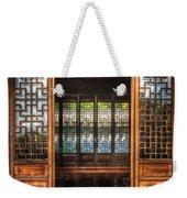 Orient - Door - The Temple Doors Weekender Tote Bag by Mike Savad