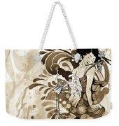 Oriental Beauty Sepia Tone Weekender Tote Bag