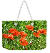 Oriental Poppies Weekender Tote Bag
