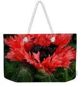 Oriental Poppy Weekender Tote Bag