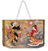 Oriental Triptych Weekender Tote Bag