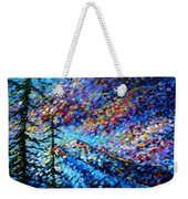 Original Abstract Impressionist Landscape Contemporary Art By Madart Mountain Glory Weekender Tote Bag by Megan Duncanson