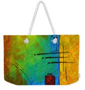 Original Abstract Painting Digital Conversion For Textured Effect Resonating IIi By Madart Weekender Tote Bag
