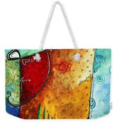 Original Abstract Pop Art Style Colorful Landscape Painting Home To Tuscany By Megan Duncanson Weekender Tote Bag