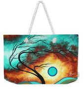 Original Bold Colorful Abstract Landscape Painting Family Joy I By Madart Weekender Tote Bag