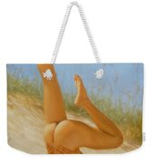 Original Oil Painting Man Art Male Nude On Sand On Canvas#16-2-5-05 Weekender Tote Bag