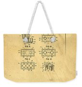 Original Patent For Lego Toy Building Brick Weekender Tote Bag by Edward Fielding