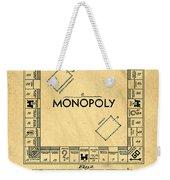 Original Patent For Monopoly Board Game Weekender Tote Bag