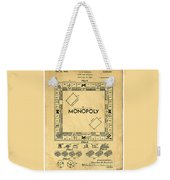 Original Patent For Monopoly Board Game Weekender Tote Bag